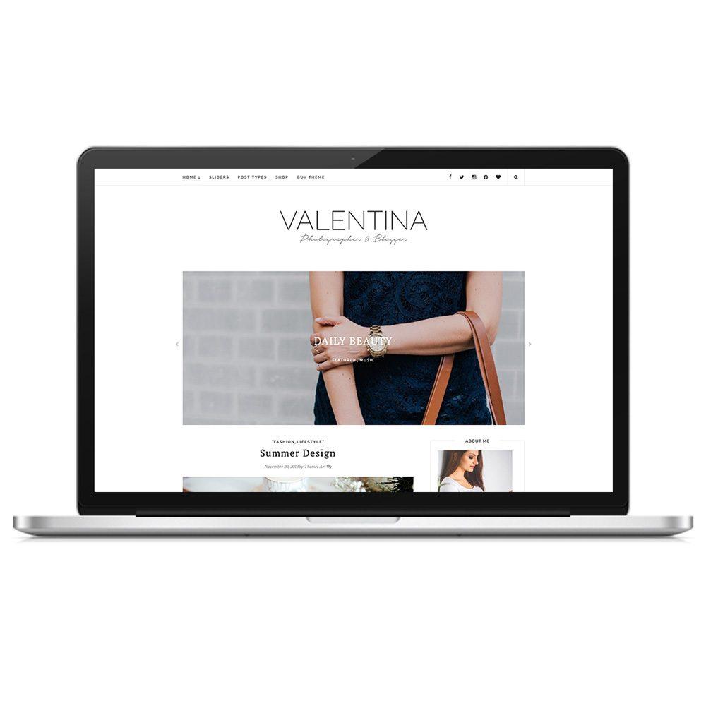 Valentina Modern Clean Wordpress Theme Themes Art